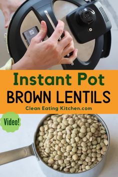 This recipe for Instant Pot Brown Lentils is so easy and versatile. Cooked lentils can be used in soups, salads, or even made into lentil burgers. Instant Pot Pressure Cooker, Pressure Cooker Recipes, Pressure Cooking, Slow Cooker, How To Make Lentils, Lentils Instant Pot, Lentil Burgers, Gluten Free Vegetarian Recipes, Brown Lentils