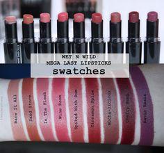 Le Makeup Freak - Makeup & Beauty: WET N WILD Mega Last Lipsticks - 17 nijansi [SWATCHES]