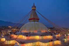 Watch rather than act...  Observe rather than do...     (Bodhnath Stupa Temple, Nepal)