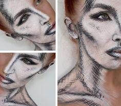 Black eye special effects makeup // SFX makeup Halloween ...