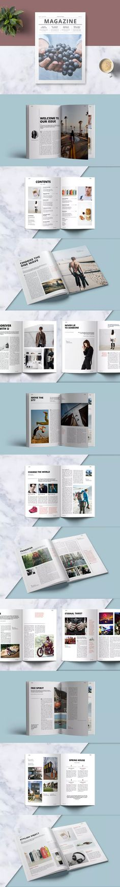 Multipurpose Magazine A4 Template InDesign INDD - 32 Unique Pages
