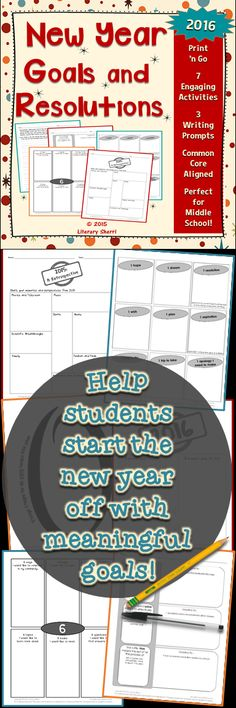 Welcome students back to school after the holiday break with 7 super-engaging, super-fun activities! These no prep activities help students reflect on last year and celebrate the new year. Students set both personal and academic goals that will help them re-focus on academics! A perfect print 'n go packet for your first day back!
