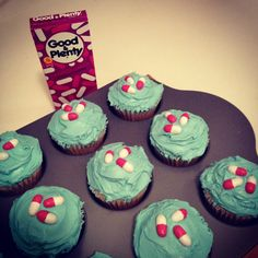 Pill cupcakes! I made these for my husband's pharmacy charity bake sale using Good & Plenty candies. I had an idea that didn't come from Pinterest! So I thought I'd share it. Enjoy!