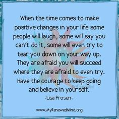 When time comes to make positive changes....