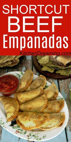 These easy to make Beef Empanadas are worth a second look with updated post text and all new images. These Beef Empanadas are also extremely easy to make and are a great addition to any tapas or party menu. via Kitchen Dreaming Easy Homemade Recipes, New Recipes, Cooking Recipes, Favorite Recipes, Baked Empanadas, Mexican Beef Empanadas Recipe, Recipe For Empanadas, Easy Empanada Recipe, Tomato Cream Sauces