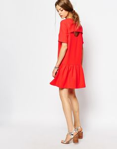 Image 4 - Suncoo - Robe taille basse avec dos ouvert - Rouge