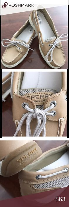 NWOB - SPERRY Laguna Linen Boat Shoe Authentic SPERRY TOP-SIDER LAGUNA LEATHER BOAT SHOE • Color: Linen • This fabulous boat shoe pairs perfectly with jeans, capris, shorts, skirts, just about anything...neutral color is even more versatile • Hand-sewn construction • Nubuck leather upper • Moc toe • Mesh side panels • Wraparound lacing • 2-eye lace-up • Slip-on • Padded tongue, collar & footbed • Cushioned insole • Flexible rubber bumper • Grip soles • Stain & water-resistant • BNWOB • No…