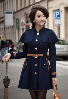 England Cape Style Trench Coat