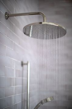 Swift Studios' Custom Shower with Dust Storm Tile | Fireclay Tile Bathroom Floor Tiles, Tile Floor, Fireclay Tile, Dust Storm, Custom Shower, Tile Design, Interior Inspiration, Tile Flooring