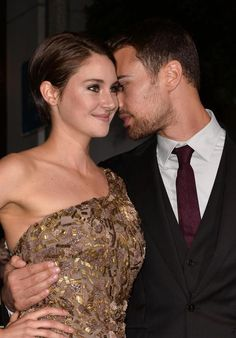 Shailene and Theo at the LA Premiere of Divergent