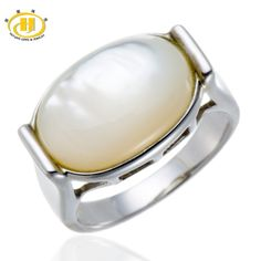 We love it and we know you also love it as well Hutang Cabochon Cut Mother of Pearl Solid 925 Sterling Silver Ring for Women's Fine Jewelry Free Shipping just only $19.99 with free shipping worldwide  #finejewelry Plese click on picture to see our special price for you