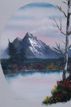 Bob Ross Art Bob Ross Artworks, Bob Ross Paintings, Easy Paintings, Oil Painting Pictures, Pictures To Paint, Rob Ross, Pinturas Bob Ross, Bob Ross Quotes, Watercolor Techniques