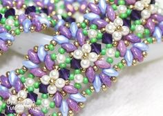Tutorial - Ayesha Bracelet  You will receive the PDF file, step by step instruction how to make this bracelet. This pattern is for intermediate beader with basic knowledge of beadweaving. But if you'r