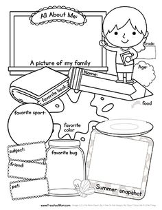Free!!  All About Me: Back to School Worksheet. Boy and Girl versions, children color, draw, and fill in the blanks with this first day back to school worksheet.  Makes a great keepsake. http://preschoolmom.com/blog/2015/09/02/all-about-me-worksheet/