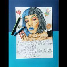 Melanie Martinez, Cry Baby, After School, Crying, Fan Art, Tags, Portrait, Drawings, Artwork