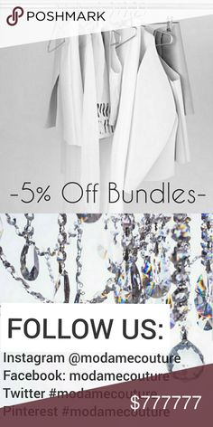 -5% off Bundles- Hi, Beauties!!⚘  My Hope Is To Inspire, Bring Joy & Help Radiate Every Woman's Inner Beauty Through My Hand Picked Collection! I want your shopping experience to be enjoyable for the beginning to the end everytime! We offer 5% off bundles,  I can help create outfits just for you! Just consider me your personal stylist! XO  ❤Featured in Forbes ❤Posh Boutique Seller  ❤Posh Ambassador ❤Suggested User ❤2018 Closet Consultant ❤Same Day Shipping (purchases before 12pst) MODA ME…