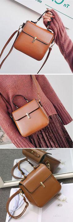Vintage Leather Crossbody Bag /Shoulder Bag #fashion #style