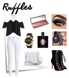 Designer Clothes, Shoes & Bags for Women Ruffle Top, Ruffles, Barbour, Urban Decay, Yves Saint Laurent, Coast, Gucci, Shoe Bag, Polyvore