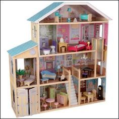 KidKraft Majestic Mansion Dollhouse with Furniture New Accessories Doll House Wooden Dollhouse, Dollhouse Toys, Dollhouse Ideas, Victorian Dollhouse, Top Toys, Barbie House, Barbie Dream, Toys For Girls, Kids Toys