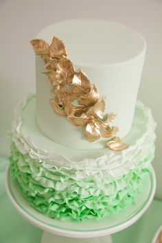 @Debi Gardner-Faver Camp I want green ombre with mint icing and chocolate cake inside. Just the bottom layer.