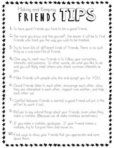 Making and Keeping Friends Tips for Kids