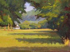 """Daily Paintworks - """"#27 East evening view"""" - Original Fine Art for Sale - © Nancy Wallace"""