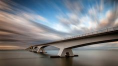 The Bridge by wim denijs on City Architecture, Long Exposure, Love Photography, Beautiful, Canon Eos, Bridges, Sunsets, Lust, Buildings