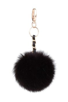 Faux Leather and Faux-Fur Keyring