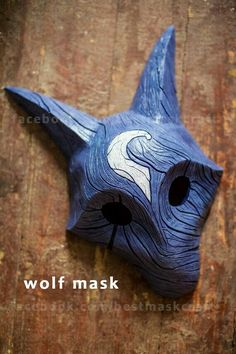 inspirierte Kindred Wolf Mask League of Legends Lol Cosplay - inspirierte Kindred Wolf Maske League of Legends Lol cosplay Lol League Of Legends, Wolf Maske, Lambs And Wolves, Mononoke Cosplay, Masks Art, 3d Prints, Mask Design, Larp, Art Reference