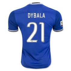 16-17 Juventus Football Shirt Away Blue Replica Cheap #21 DYBALA Jersey [F852]
