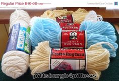 Luck Of The Irish 5 - 4 Aunt Lydia's 1 Coats & Clark - Rug Yarn Assorted Colors -  - See Description by pittsburgh4pillows on Etsy