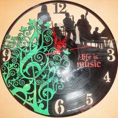 Horloge vinyle décoration Life is music 26.50 €