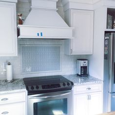 An overall look at the backsplash tile.