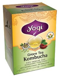 Green Tea Kombucha by Yogi Tea - So I put a teabag in my 32oz waterbottle cold. It makes it so much easier to drink my water and helps with digesting my food. It has green tea as well. Comes in decaf too. Available at grocery stores.
