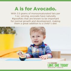 A is for Avocado.