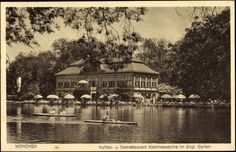 Seehaus, Kleinhesseloher See, English Garden (Postcard 1932)
