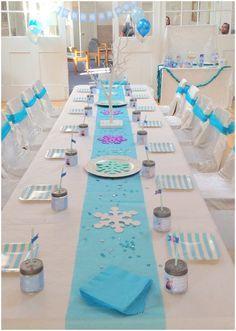 Süße Tischdeko für deinen nächsten Kindergeburtstag unter dem Motto Eiskönigin