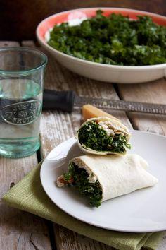 Massaged Kale Chicken Caesar Wraps - kitchensimplicity.com