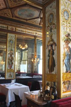 Le Grand Vefour, Paris, an incredible restaurant with sensational food...