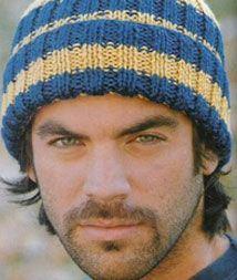 iKnitts: Patron para tejer un gorro clasico de hombre§ cappello da uomo§