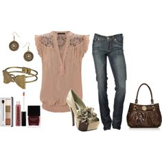 Dressy casual outfit - and love the shoes!