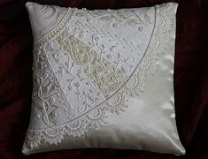 White on white crazy quilting by mattie