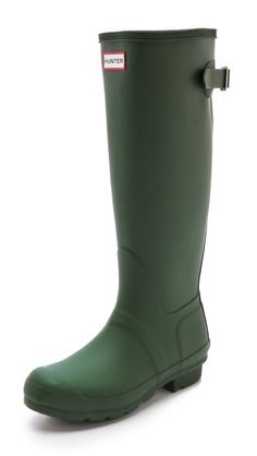 Hunter Boots Hunter Adjustable Boots  looves rain boots. matte green should be my next colour