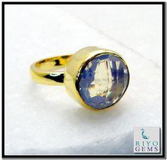 Fire Opal Cz Gem Stone 18 Kt Gold Platings Bridal Rings Sz 9 Gprfocz9-9829 http://www.riyogems.com