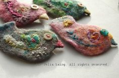 Birdie Brooches by Julia Laing