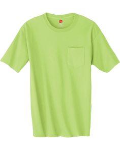 Tagless Pocket T-Shirt - SAVE UPTO 47% on 6.1 oz. Hanes tagless® pocket t-shirt at Gotapparel.com