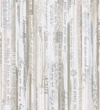 Papel pintado madera decapada con letras estilo country - 1142438