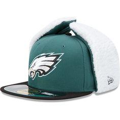 Men's New Era Philadelphia Eagles On Field Dog Ear 59FIFTY® Football Structured Fitted Hat - NFLShop.com Size: 7 1/8