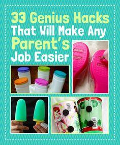 33 Genius Hacks Guaranteed To Make A Parent's Job Easier // Algunas ideas para simplificar la vida de los padres