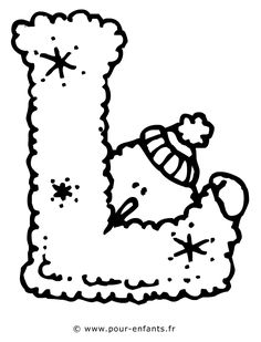 Buchstabe L Alphabet Malvorlagen Free Kids, Alphabet Coloring Pages, Coloring For Kids, Coloring Pages For Kids, Snowman Crafts, Craft Stick Crafts, Preschool Crafts, Alphabet Templates, Christmas Alphabet, Letters For Kids